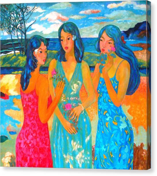 Bathing9 Canvas Print by Tung Nguyen Hoang