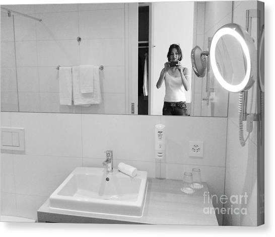 Bathroom Selfie Canvas Print