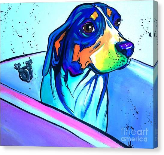 Rottweilers Canvas Print - Bathtub Beagle by Abbi Kay