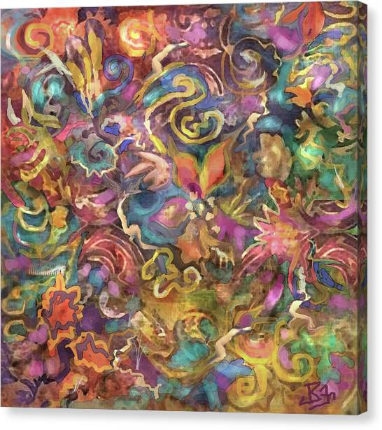 Batik Colorburst Canvas Print