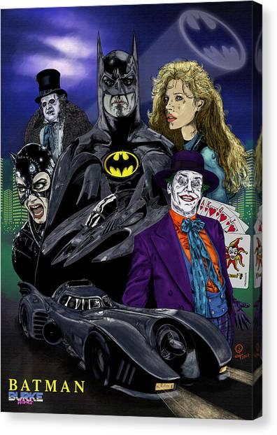 Batman 1989 Canvas Print by Joseph Burke