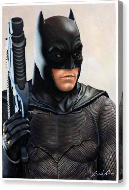Ben Affleck Canvas Print - Batman 2 by David Dias