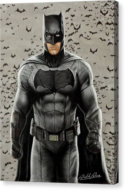 Ben Affleck Canvas Print - Batman Ben Affleck by David Dias