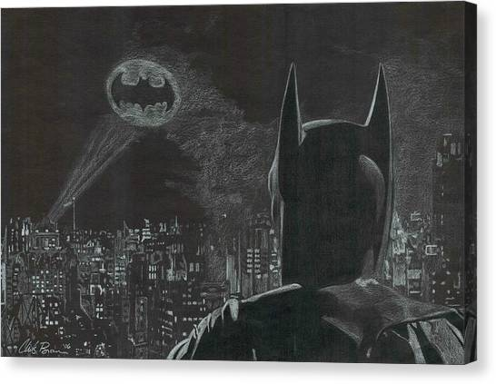 Ben Affleck Canvas Print - Batman by Chris Brown