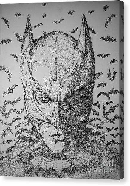 Batman Flight Canvas Print