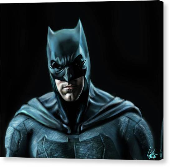 Ben Affleck Canvas Print - Batman Justice League by Vinny John Usuriello