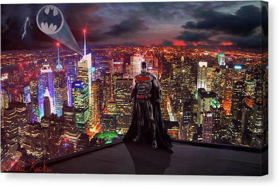 Ben Affleck Canvas Print - Batman by Michael Rucker