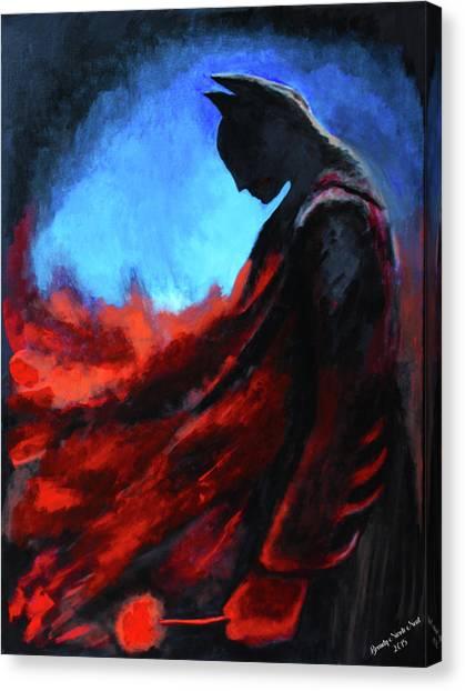 Ben Affleck Canvas Print - Batman's Mercy by Brandy Nicole Neal Stenstrom