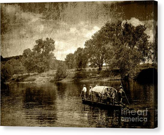 batteau on the James Canvas Print