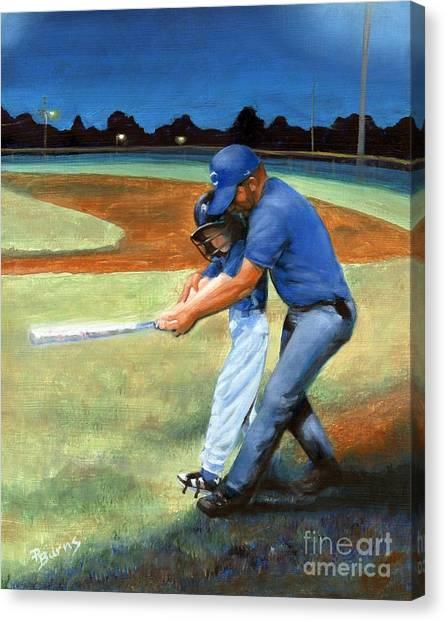 Batting Coach Canvas Print