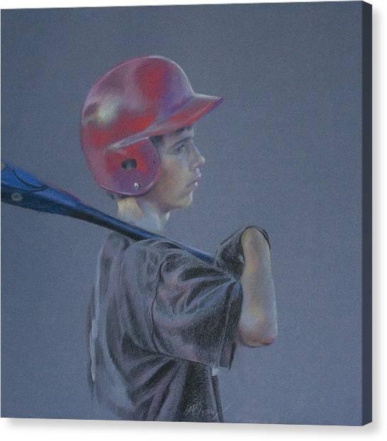 Batting Helmet Canvas Print
