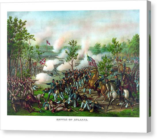 Confederate Canvas Print - Battle Of Atlanta by War Is Hell Store