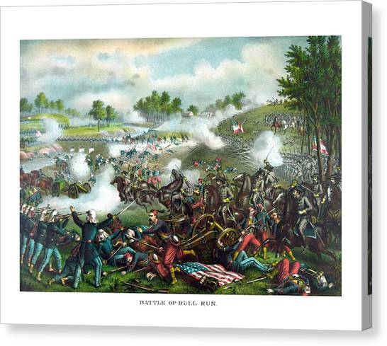 South American Canvas Print - Battle Of Bull Run by War Is Hell Store
