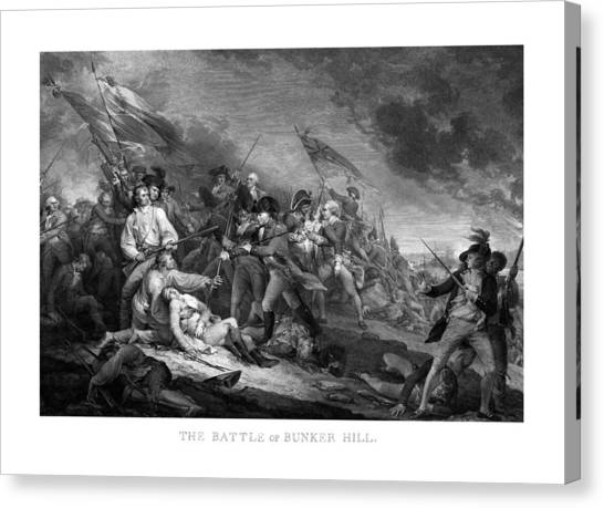 Hill Canvas Print - Battle Of Bunker Hill by War Is Hell Store