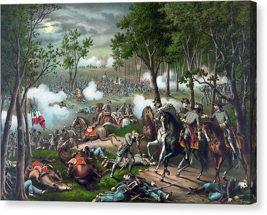 Stonewall Canvas Print - Battle Of Chancellorsville - Death Of Stonewall by War Is Hell Store