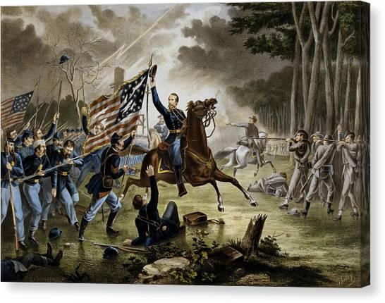 War Horse Canvas Print - Battle Of Chantilly - Civil War by War Is Hell Store
