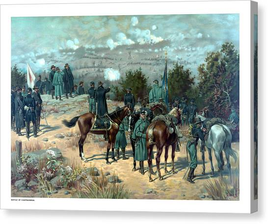 South American Canvas Print - Battle Of Chattanooga by War Is Hell Store
