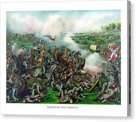 Battle Canvas Print - Battle Of Five Forks by War Is Hell Store