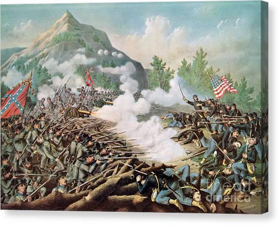 E.t Canvas Print - Battle Of Kenesaw Mountain Georgia 27th June 1864 by American School