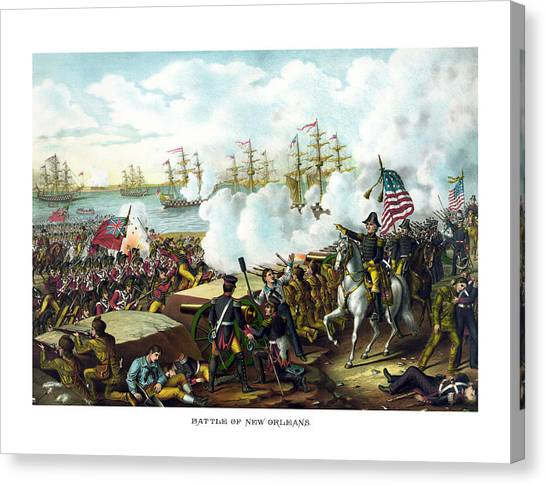 American Flag Canvas Print - Battle Of New Orleans by War Is Hell Store