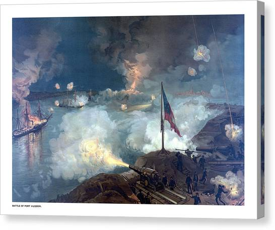Confederate Canvas Print - Battle Of Port Hudson by War Is Hell Store