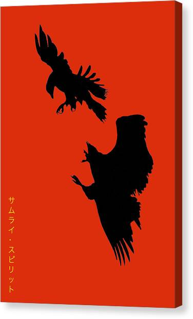 Battle Of The Eagles Canvas Print