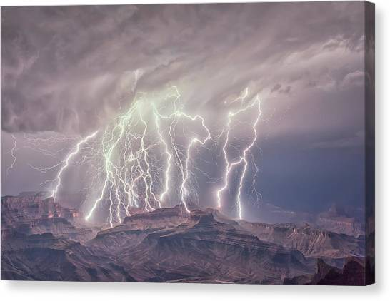 Battle Of The Gods Canvas Print
