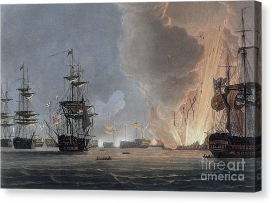 The Nile Canvas Print - Battle Of The Nile, August 1798 by Thomas Whitcombe
