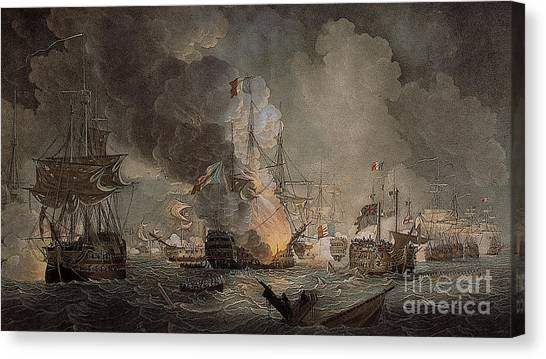 The Nile Canvas Print - Battle Of The Nile by Thomas Luny
