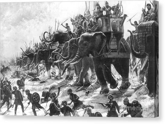 Notable Canvas Print - Battle Of Zama, Hannibals Defeat by Photo Researchers