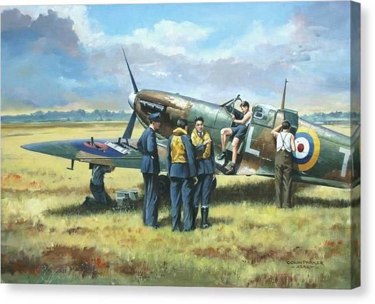 'battle Tactics' Canvas Print
