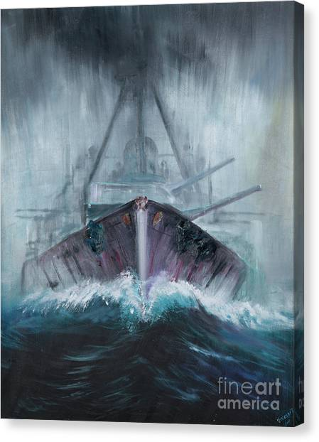 Dreadnought Canvas Print - Battlecruiser Derfflinger  1918 by Vincent Alexander Booth