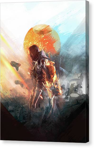 Battlefield Poster Canvas Print
