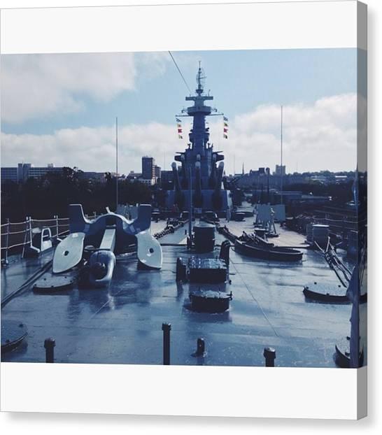 Battleship Canvas Print - #battleship #battleshipnc #nc #navy by Courtney Stokes