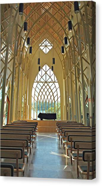 Baughman Meditation Center - Inside Rear Canvas Print by Farol Tomson