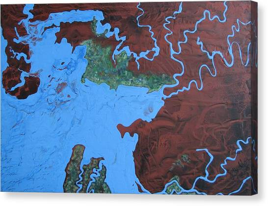Bauxite And Water Canvas Print