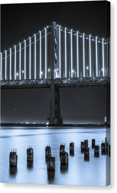 Bay Bridge 2 In Blue Canvas Print