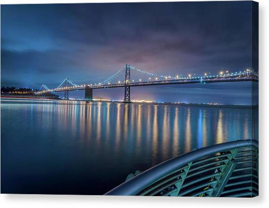 Bay Bridge Blues Canvas Print