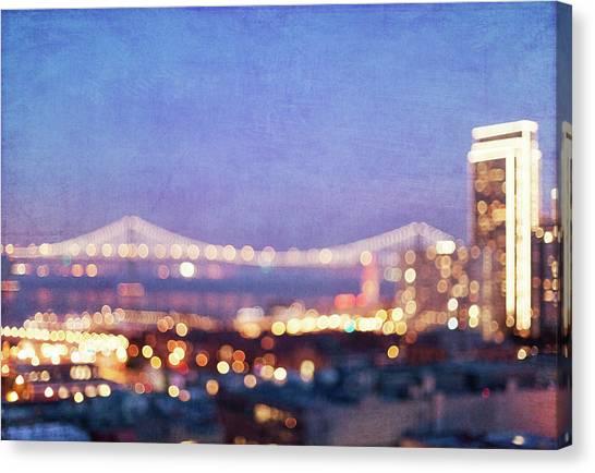 Bay Bridge Glow - San Francisco, California Canvas Print