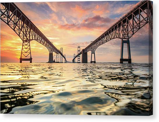 Bridge Canvas Print - Bay Bridge Impression by Jennifer Casey