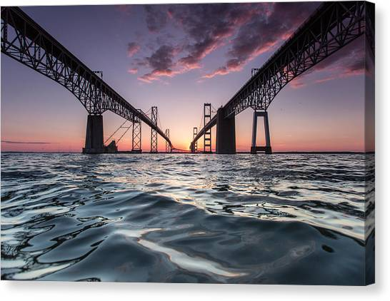 Bay Bridge Twilight Canvas Print