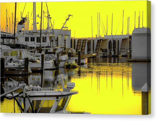 Bay In Yellow Canvas Print