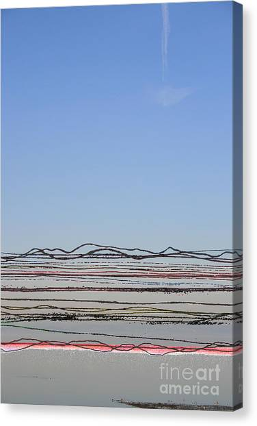 Bay Lines Canvas Print by Andy  Mercer