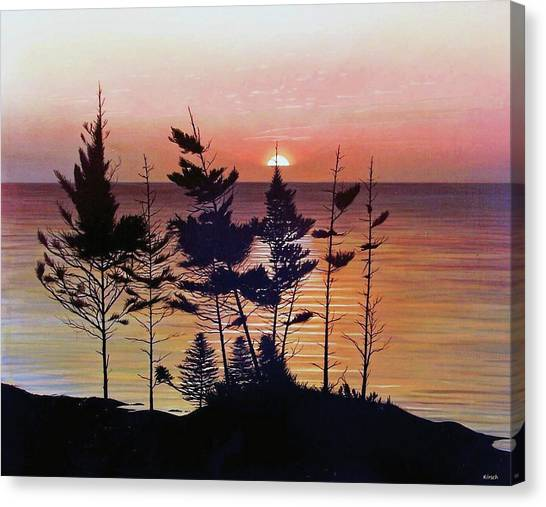 Bay Of Fundy Sunset Canvas Print