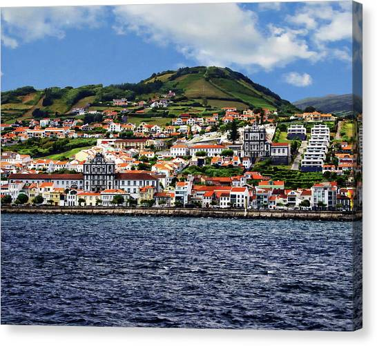 Bay Of Horta Canvas Print