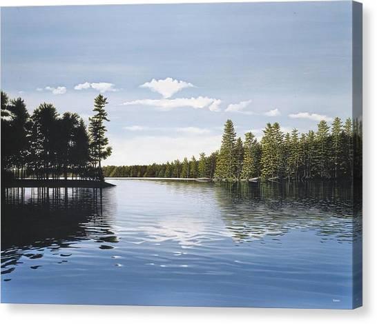 Bay On Lake Muskoka Canvas Print