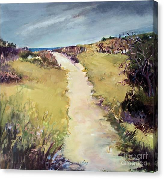Bay Path Canvas Print by Diane Ursin