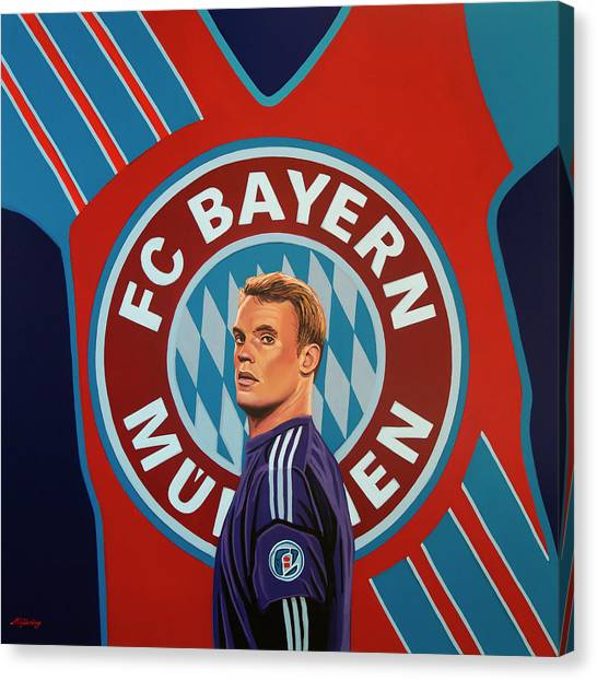 World Cup Canvas Print - Bayern Munchen Painting by Paul Meijering