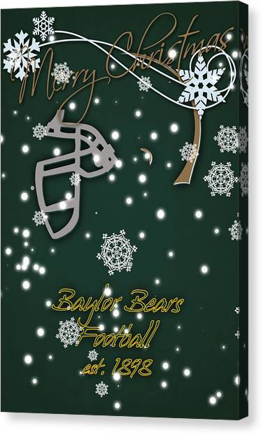 Baylor University Canvas Print - Baylor Bears Christmas Card 2 by Joe Hamilton