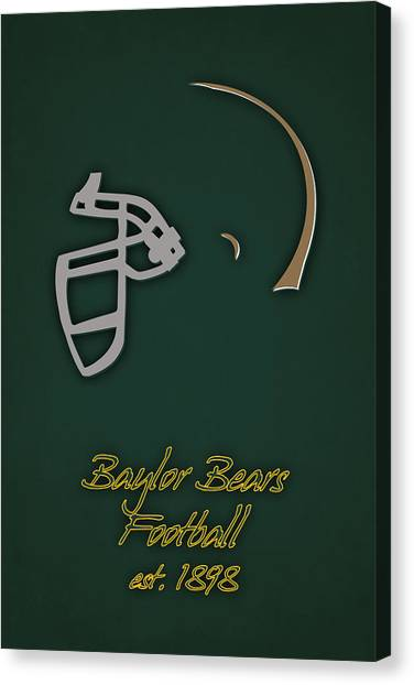 Baylor University Canvas Print - Baylor Bears Helmet 2 by Joe Hamilton